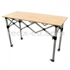 SR5 1.5m Commercial Concertina Table, 60cm PLYWOOD Top